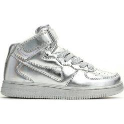 Srebrne Buty Sportowe Easy Going. Szare buty sportowe dziewczęce Born2be, z materiału, z okrągłym noskiem, na sznurówki. Za 49,99 zł.