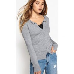 Swetry damskie: Kardigan zapinany na guziki, z wiskozy