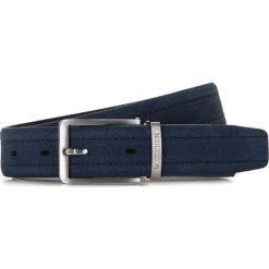 Pasek męski 86-8M-322-7. Niebieskie paski męskie Wittchen, w paski, z materiału, biznesowe. Za 119,00 zł.