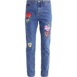 Boyfriendy damskie: Glamorous Jeansy Straight Leg mid blue