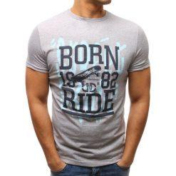 T-shirty męskie z nadrukiem: T-shirt męski z nadrukiem szary (rx2655)