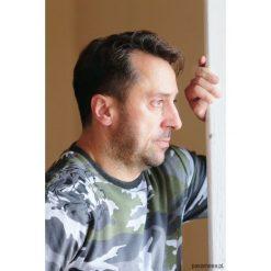 Bluza z tygrysem. Zielone bluzy męskie rozpinane marki Ombre Clothing, m, moro, z bawełny, z kapturem. Za 119,00 zł.