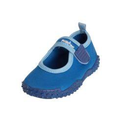 Playshoes  Buty do wody Aqua + UV50+ niebieski. Niebieskie buciki niemowlęce chłopięce marki Born2be, z materiału, z okrągłym noskiem, na obcasie. Za 59,00 zł.