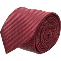 Krawat platinum bordo classic 202. Niebieskie krawaty męskie marki LANCERTO, w kratkę, z bawełny, sportowe. Za 49,00 zł.