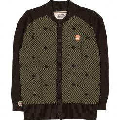 """Kardigan """"Sitting On A Fence"""" w kolorze brązowym. Brązowe swetry chłopięce marki 4FunkyFlavours Kids, z bawełny, ze stójką. W wyprzedaży za 142,95 zł."""