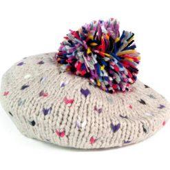 Czapka-beret damska i kolorowy pompon beżowa (cz2703). Brązowe czapki zimowe damskie marki Art of Polo, w kolorowe wzory. Za 47,34 zł.