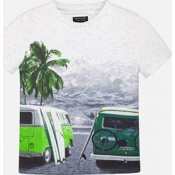 Mayoral - T-shirt dziecięcy 128-172 cm. Szare t-shirty męskie z nadrukiem Mayoral, z bawełny. Za 69,90 zł.