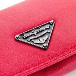 PORTFEL DAMSKI MŁODZIEŻOWY KOPERTÓWKA. Czerwona torebki na łańcuszku marki Jennifer Jones, z materiału, młodzieżowe. Za 49,90 zł.