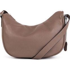 Torebki klasyczne damskie: Skórzana torebka w kolorze szarobrązowym - 28 x 20 x 11 cm