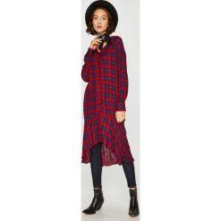 Answear - Koszula. Brązowe koszule damskie w kratkę marki ANSWEAR, l, z bawełny, casualowe, ze stójką, z długim rękawem. W wyprzedaży za 114,90 zł.