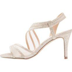Paradox London Pink MARINA Sandały na obcasie gold glitter. Białe sandały damskie marki Paradox London Pink, z materiału. Za 349,00 zł.