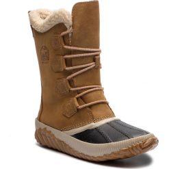 Śniegowce SOREL - Out N About Plus Tall NL3146 Elk 286. Brązowe buty zimowe damskie Sorel, z gumy, na niskim obcasie. Za 569,99 zł.