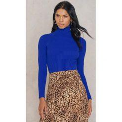 Trendyol Sweter z golfem - Blue. Niebieskie golfy damskie Trendyol, w prążki, z dzianiny, z golfem. Za 54,95 zł.