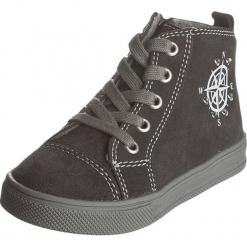 Skórzane sneakersy w kolorze antracytowym. Szare trampki chłopięce Zimowe obuwie dla dzieci, ze skóry, na sznurówki. W wyprzedaży za 147,95 zł.