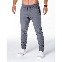 SPODNIE MĘSKIE JOGGERY P713 - SZARE. Szare joggery męskie marki Ombre Clothing. Za 59,00 zł.