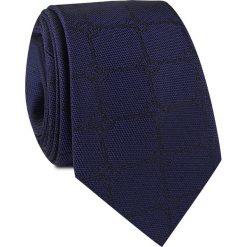 Krawat jedwabny KWGR000229. Czarne krawaty męskie Giacomo Conti, w kratkę, z jedwabiu. Za 129,00 zł.