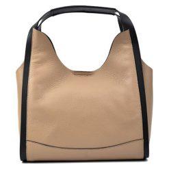 Torebki klasyczne damskie: Skórzana torebka w kolorze fango – (S)34 x (W)34 x (G)15 cm