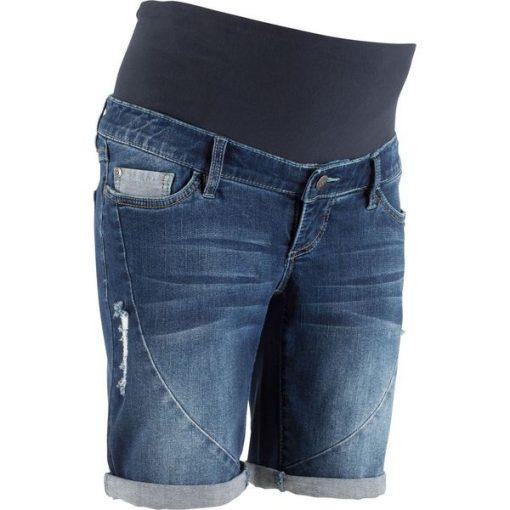 68808f610 Szorty dżinsowe ciążowe bonprix niebieski