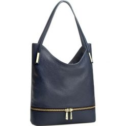 Torebka CREOLE - RBI10082  Granat. Niebieskie torebki klasyczne damskie Creole, ze skóry. W wyprzedaży za 259,00 zł.