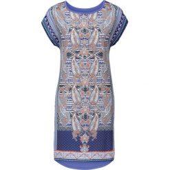 Sukienki: Sukienka z nadrukiem bonprix lila-niebieski z nadrukiem