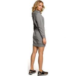 ALIVIA Mini sportowa sukienka z kapturem - szara. Czarne sukienki mini marki Sinsay, l, z kapturem. Za 159,90 zł.