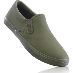 Buty wsuwane bonprix oliwkowy. Szare buty sportowe damskie marki bonprix, z materiału. Za 32,99 zł.