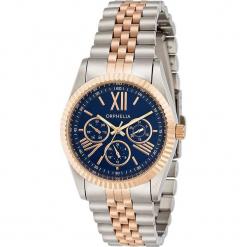 Zegarek kwarcowy w kolorze niebiesko-srebrno-różowozłotym. Szare, analogowe zegarki damskie Esprit Watches, ze stali. W wyprzedaży za 272,95 zł.
