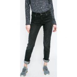 Levi's - Jeansy. Brązowe jeansy damskie rurki marki Levi's®, z aplikacjami, z bawełny. W wyprzedaży za 279,90 zł.
