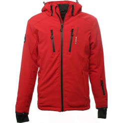 Kurtka narciarska w kolorze czerwonym. Czerwone kurtki narciarskie męskie marki Peak Mountain, m, z materiału. W wyprzedaży za 255,95 zł.