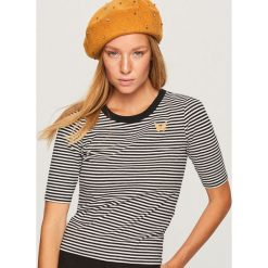 Dopasowany t-shirt - Wielobarwn. Szare t-shirty damskie Reserved, l. Za 29,99 zł.