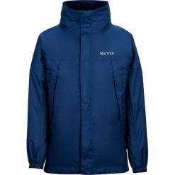"""Kurtka funkcyjna """"PreCip"""" w kolorze granatowym. Niebieskie kurtki chłopięce marki Marmot Kids, z materiału. W wyprzedaży za 152,95 zł."""