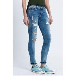 Hilfiger Denim - Jeansy. Niebieskie jeansy damskie marki Hilfiger Denim, z bawełny, z obniżonym stanem. W wyprzedaży za 259,90 zł.