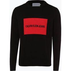 Calvin Klein Jeans - Sweter męski, czarny. Czarne swetry klasyczne męskie marki Calvin Klein Jeans, m, z haftami, z jeansu. Za 449,95 zł.