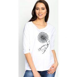Biała Bluzka Margaret's Choice. Białe bluzki na imprezę marki Born2be, m, ze sznurowanym dekoltem, z krótkim rękawem. Za 39,99 zł.