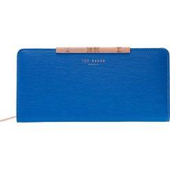 Ted Baker YASMINE MINI BARK ZIP MATINEE Portfel blue. Niebieskie portfele damskie marki Ted Baker. Za 439,00 zł.