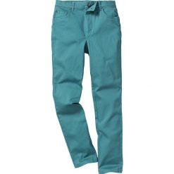 Rurki dziewczęce: Spodnie twillowe Slim Fit bonprix niebieskozielony