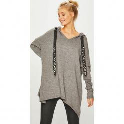 Answear - Sweter. Szare swetry klasyczne damskie ANSWEAR, uniwersalny, z dzianiny, z kapturem. Za 149,90 zł.