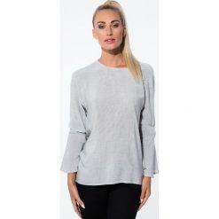 Koszule wiązane damskie: Czarna Koszula w Paski 21106