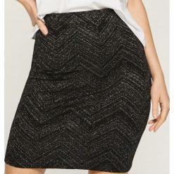 Spódniczki: Spódnica z połyskującą nitką - Wielobarwn
