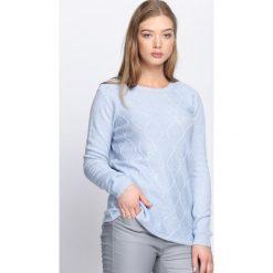 Swetry klasyczne damskie: Niebieski Sweter Wait For Love