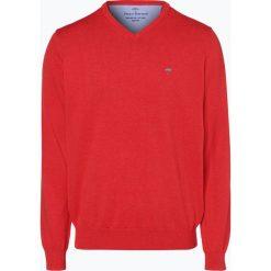Fynch Hatton - Sweter męski, czerwony. Czerwone swetry klasyczne męskie Fynch-Hatton, l, z bawełny. Za 249,95 zł.