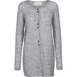 Swetry damskie: Długi kardigan z okrągłym dekoltem