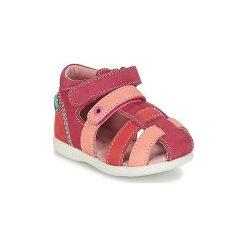 Sandały Dziecko  Kickers  BABYCHAN. Niebieskie sandały dziewczęce marki Kickers, z kauczuku, na sznurówki. Za 202,30 zł.