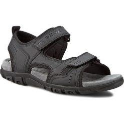 Sandały GEOX - U S. Strada A U4224A 000BC C9999 Czarny. Czarne sandały męskie skórzane Geox. W wyprzedaży za 199,00 zł.