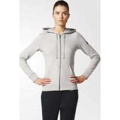 BLUZA ESS SOLID FZ HD. Białe bluzy sportowe damskie marki Adidas, z bawełny, z długim rękawem, długie. Za 149,99 zł.