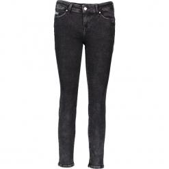 """Dżinsy """"Jasmin"""" - Slim fit - w kolorze antracytowym. Niebieskie jeansy damskie relaxed fit marki Mustang, z aplikacjami, z bawełny. W wyprzedaży za 195,95 zł."""