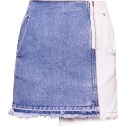 Steve J & Yoni P / SJYP MULTI MINI Spódnica trapezowa blue. Niebieskie minispódniczki Steve J & Yoni P / SJYP, l, z bawełny, trapezowe. W wyprzedaży za 419,65 zł.
