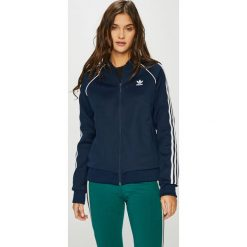 Adidas Originals - Bluza. Szare bluzy rozpinane damskie adidas Originals, s, z bawełny, bez kaptura. W wyprzedaży za 219,90 zł.