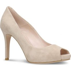 Czółenka OLIVIA. Brązowe buty ślubne damskie marki Gino Rossi, ze skóry, na wysokim obcasie, na szpilce. Za 249,90 zł.