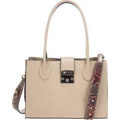 Torebki klasyczne damskie: Skórzana torebka w kolorze taupe – (S)31 x (W)42 x (G)13 cm